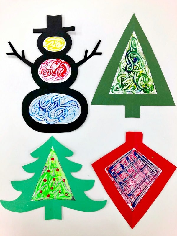 Tinfoil Process Art Christmas Ornaments Fun Craft For Kids