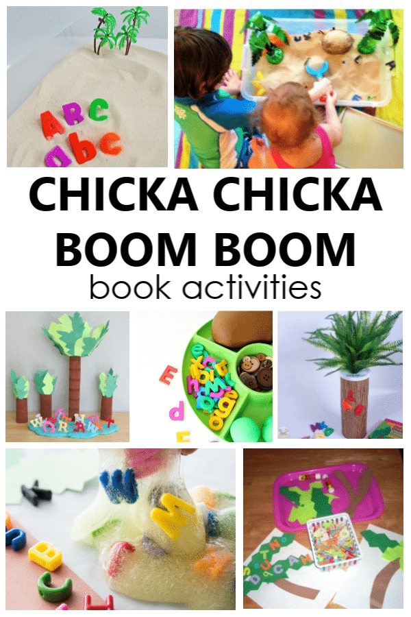 Chicka Chicka Boom Boom activities are an excellent way to supplement reading the book and learning the alphabet in preschool and kindergarten.
