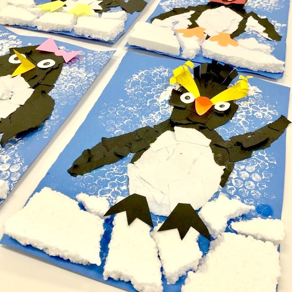 Fine motor penguin craft for kids