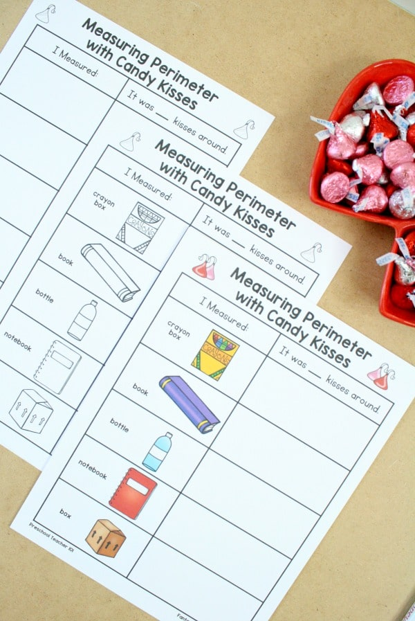 nonstandard measurement activity for preschool and kindergarten. Includes free printable