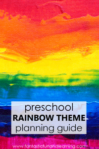 Preschool Rainbow Theme Activities for spring and color activities in preschool and kindergarten