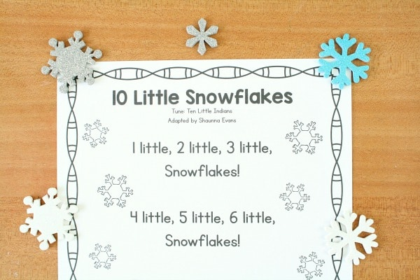 Snowflakes Song for Preschool Circle Time