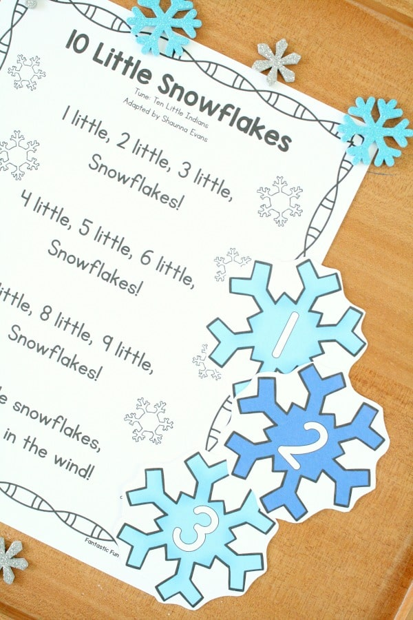 Preschool Circle Time Song-10 Little Snowflakes