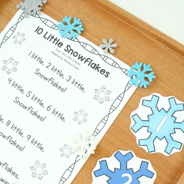 10 Little Snowflakes Preschool Song