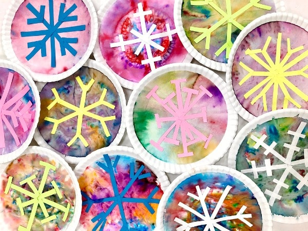 Snowflake art project for kids