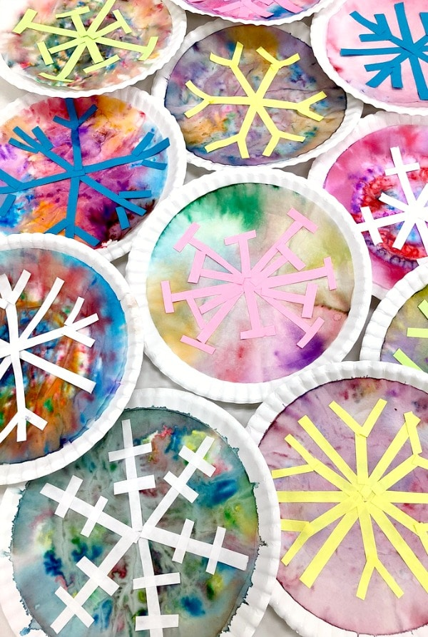 Snowflake art for kids