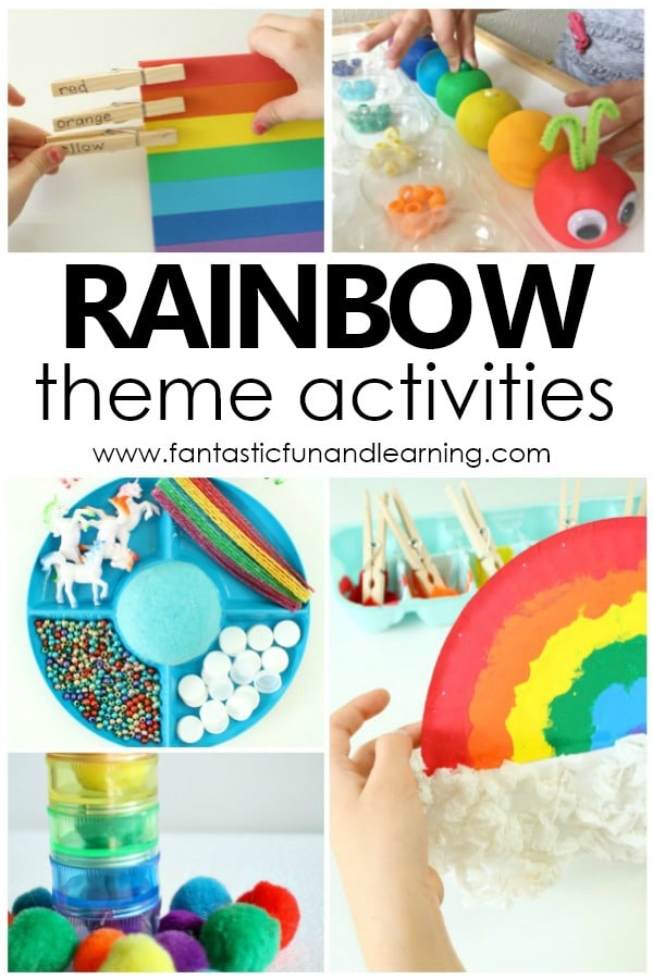 Rainbow Theme Activities for Preschool and Kindergarten
