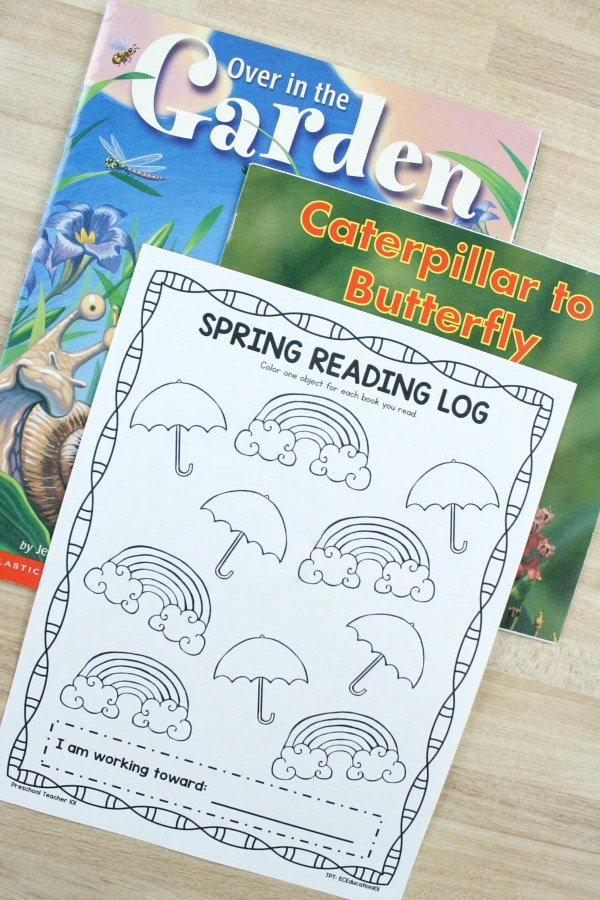 Spring Reading Log Freebie