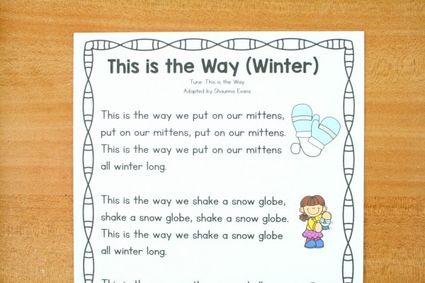 Winter Circle Time Song