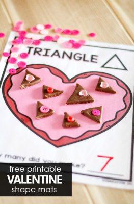 Valentine Shape Mat Freebie for Preschool Valentine's Day Theme. Valentine's Day Play Dough