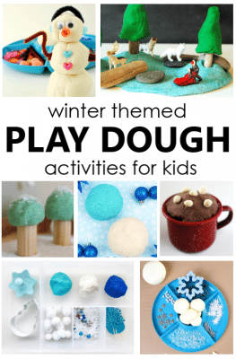 Winter Play Dough Activities for Preschool and Kindergarten