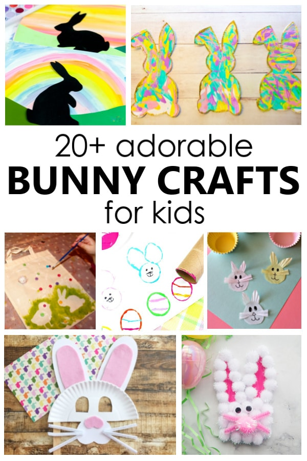 20+ Adorable Bunny Crafts for Kids-Easter Crafts for Preschoolers and School Age Kids #easter #kidsactivities #kidscrafts