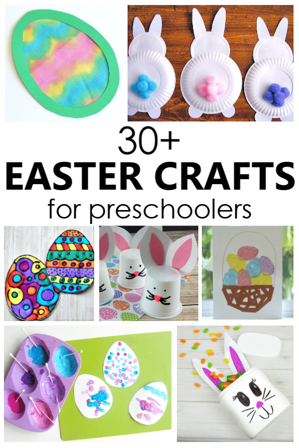 Easter Crafts for Kids-30 Preschool Easter Crafts Kids Can Make #easter #preschool #craftsforkids