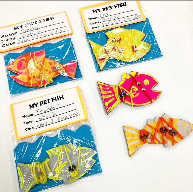 Pet Fish art project. Pet Fish art for kids