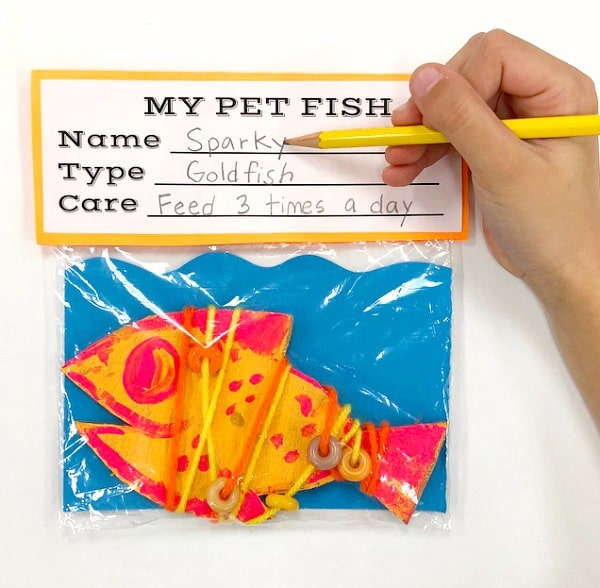 Pet Fish art for kids