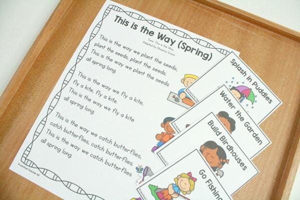 Spring Circle Time Song Printable for Preschool