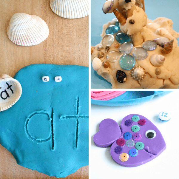 Summer play dough invitations