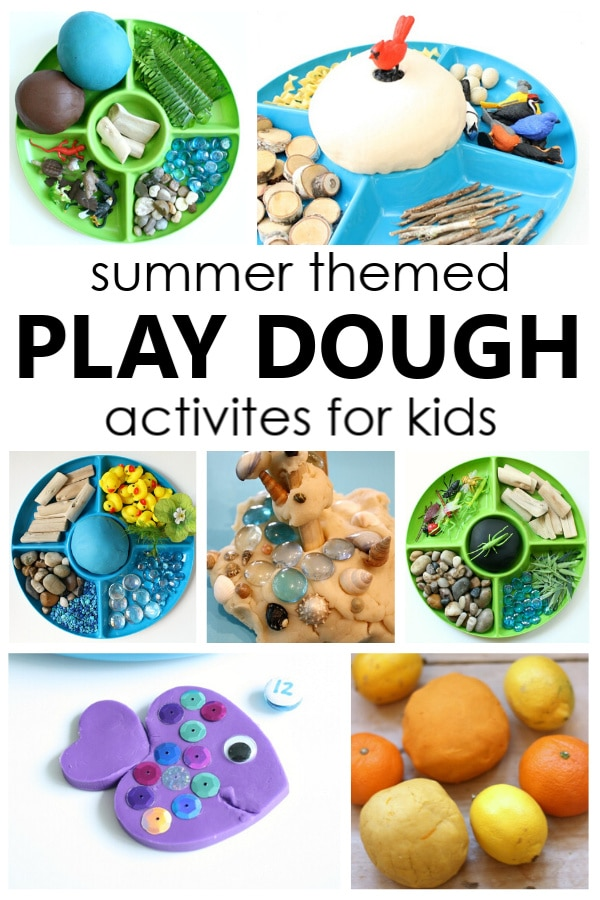 Try one of these fun summer play dough activities to inspire pretend play, work fine motor muscles, and explore different summer themes.