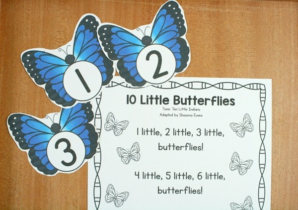 10 Little Butterflies Preschool Circle TimeSong