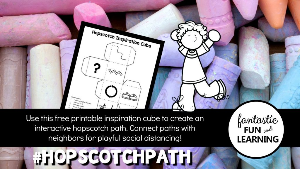 Hopscotch Inspiration Cube-Free printable community building activity