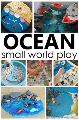 Engaging ocean small world summer sensory play ideas for toddlers and preschoolers