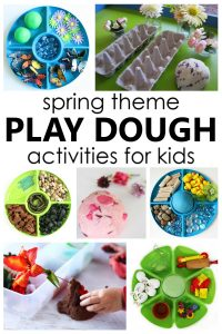 Spring Play Dough Activities for Kids