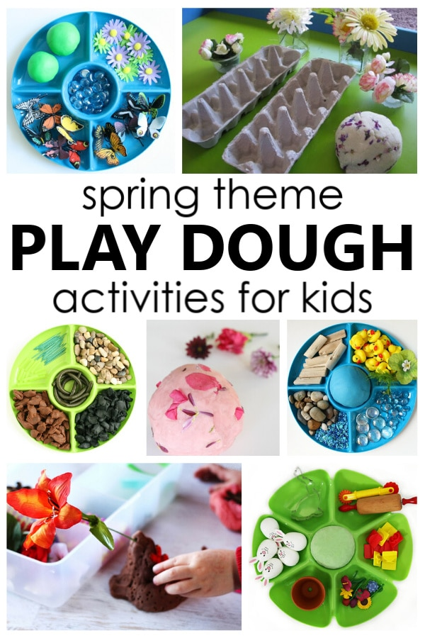 Spring Play Dough Activities Pin
