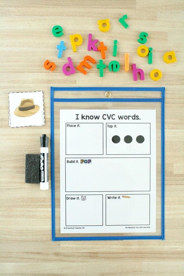 CVC Word Building Mat for Kids