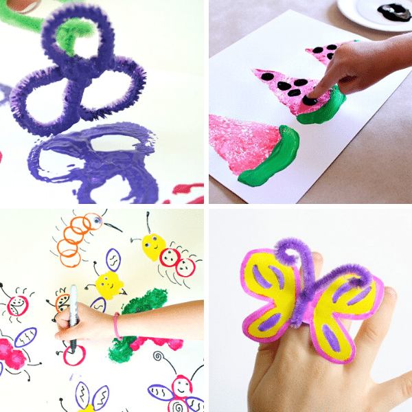 Easy Art Projects for a remote classroom