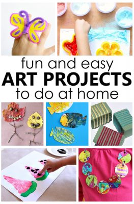 Fun and Easy Art Projects to Do at Home with Kids