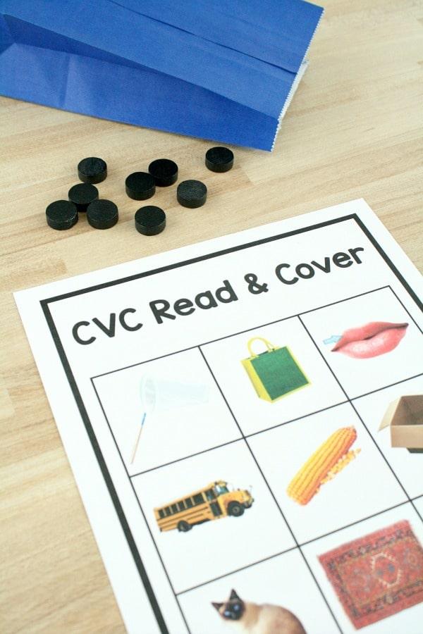 Free printable CVC game