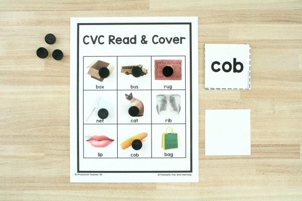 Free CVC game printable