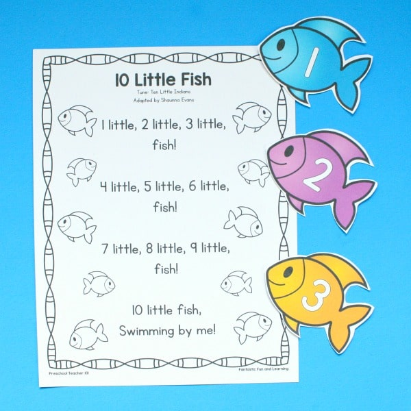 10 Little Fish Preschool Song