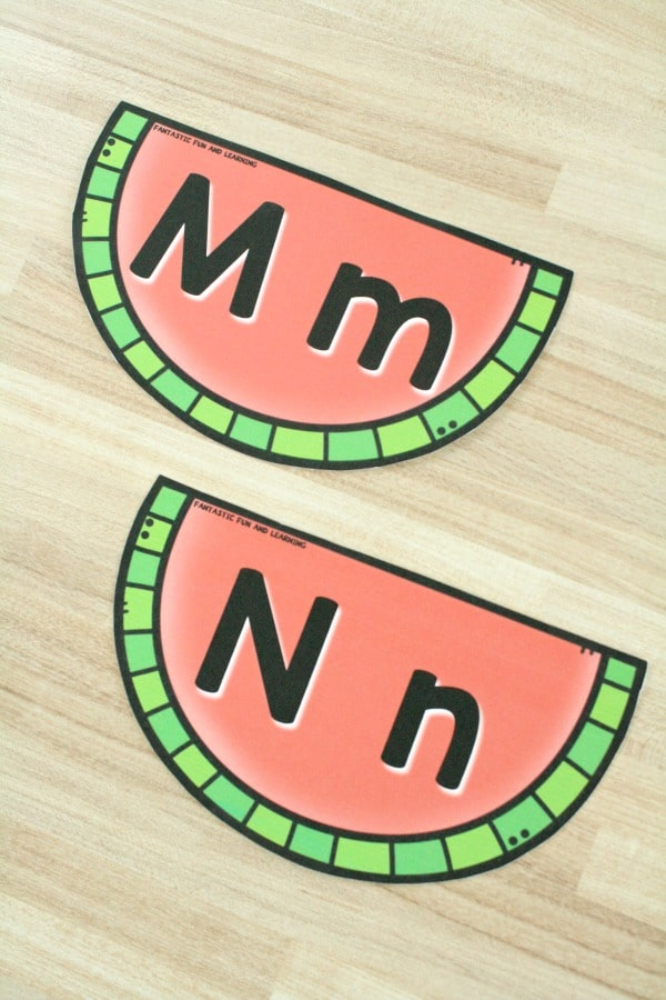 ABC Watermelon Letter Sequencing