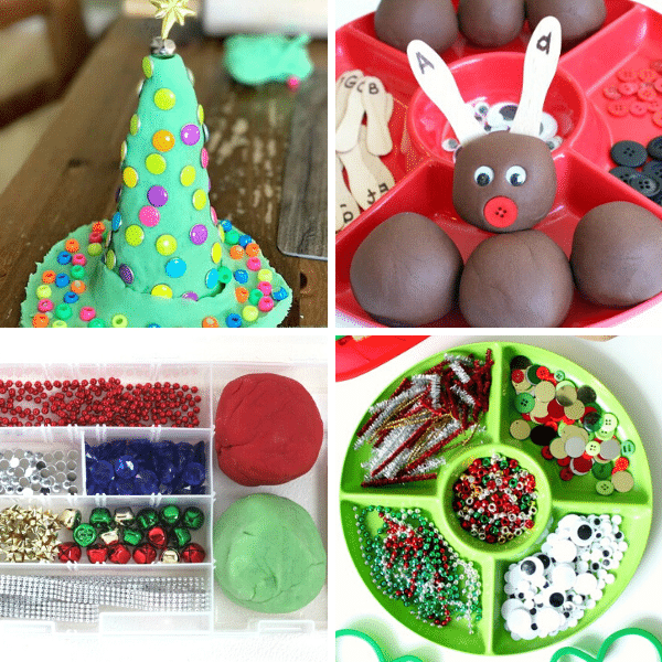 Christmas Play Dough Activities
