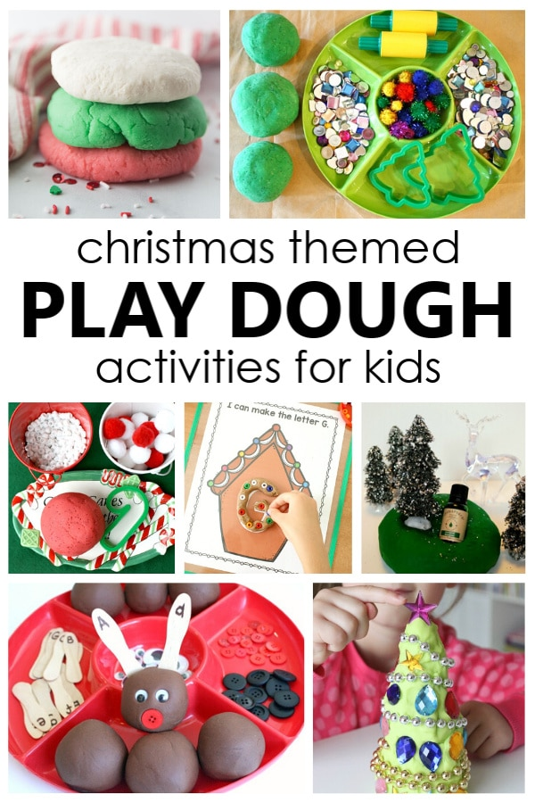 Set up these creative Christmas play dough activities to explore the scents of the holiday season and build preschool pretend play and fine motor skills