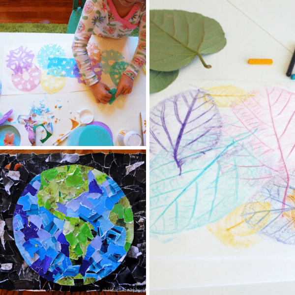 Kids Art Collage Projects