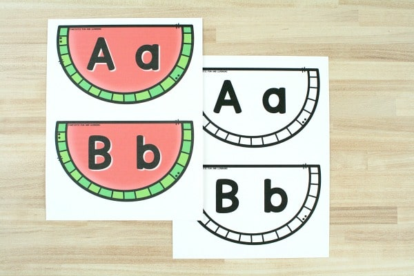 Free printable ABC matching game-in color and black and white