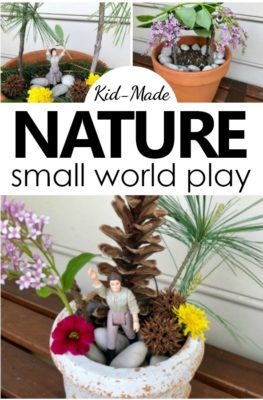 Using items found in nature kids build a small world and get creative as they design Gnome Homes, Fairy Castles, Bug Motels, or lands yet to be discovered.