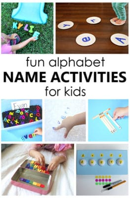 Teach the alphabet to preschoolers by starting with name recognition using these hands-on preschool name activities that are perfect any time of year.