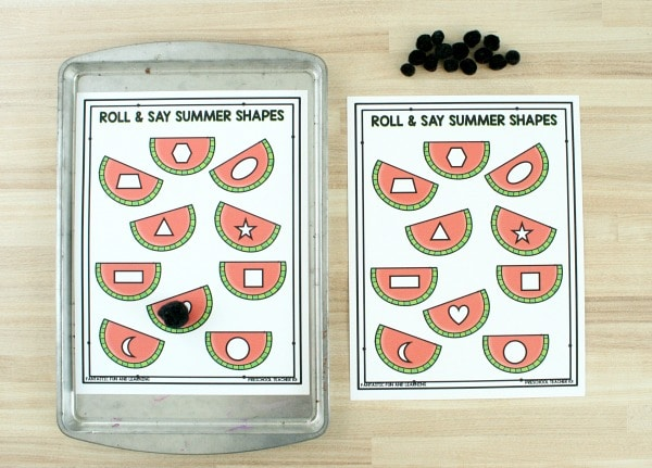 Free Printable Roll and Say Watermelon Game