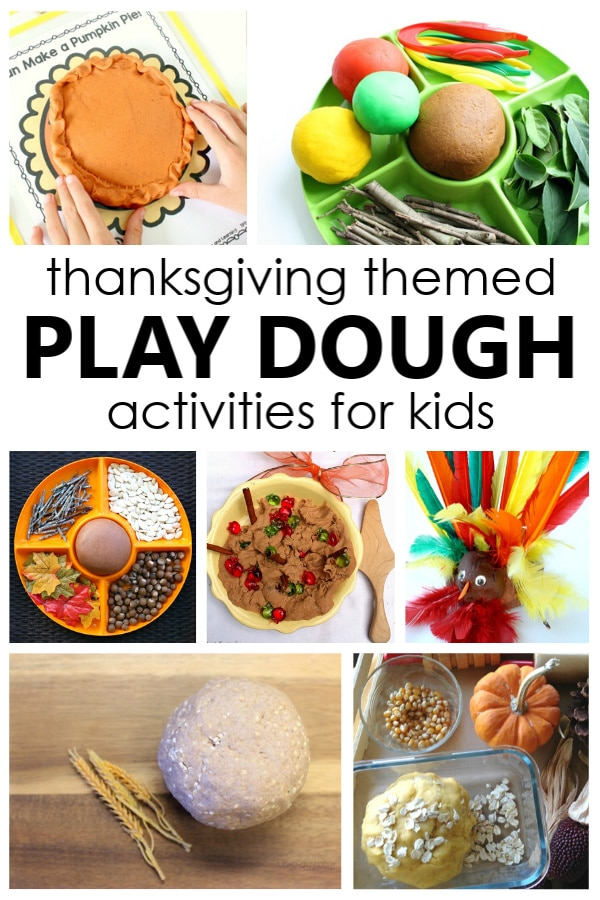 Delight the senses and help kids learn about soem of the favorite scents and symbols of Thanksgiving with these Thanksgiving Play Dough Activities.