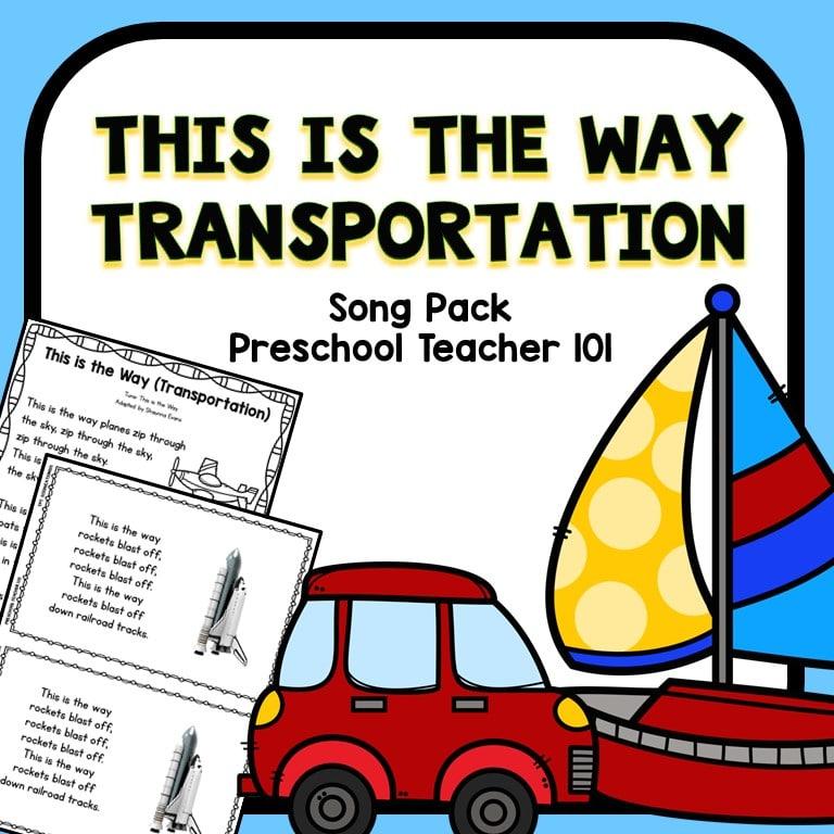 Transportation Preschool Circle Time Song Fantastic Fun Learning