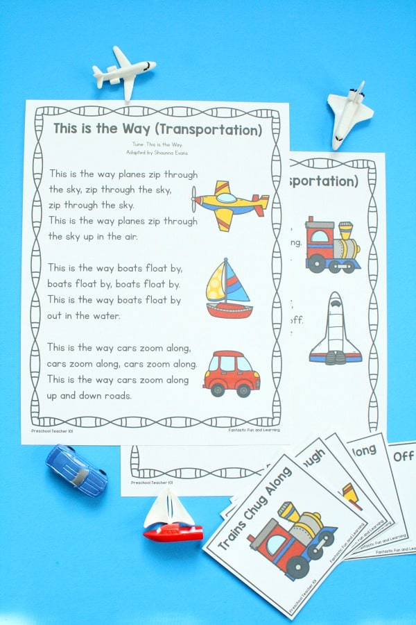 Transportation Song for Preschool