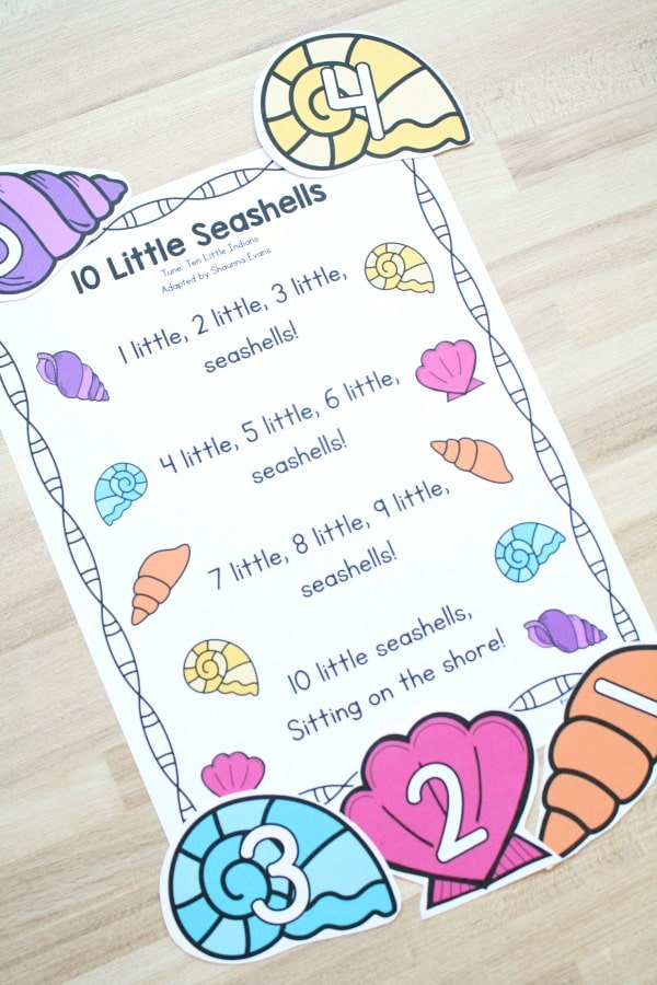 10 Little Seashells Preschool Song