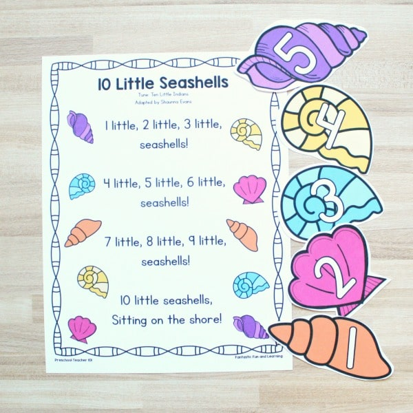 10 Little Seashells Song