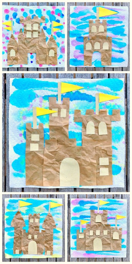 7-Sandcastle Texture Art Project Summer Crafts for Kids