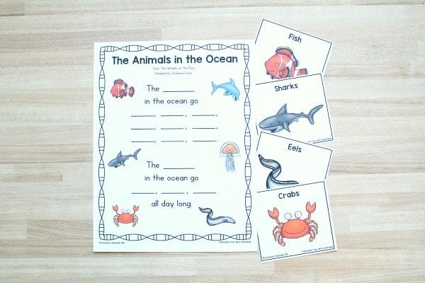 Animals in the Ocean Song for Preschoolers