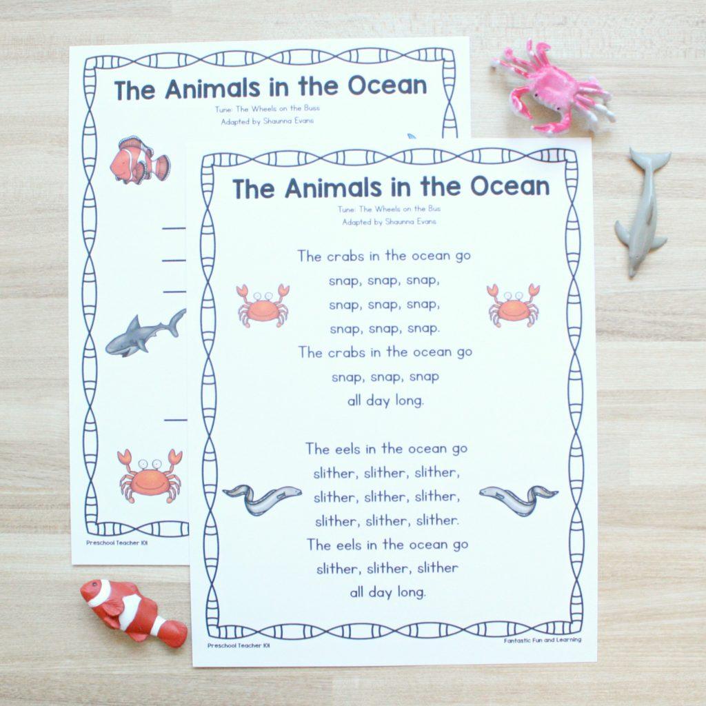 Animals in the Ocean-Square