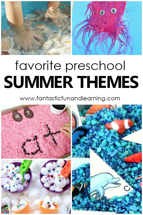 Favorite preschool summer themes and preschool activities for summer play and learning